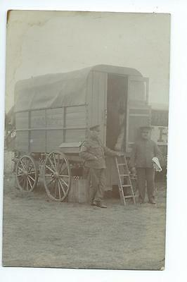 Herefordshire RP of the stores wagon at a Herefordshire Regiment camp @ 1912