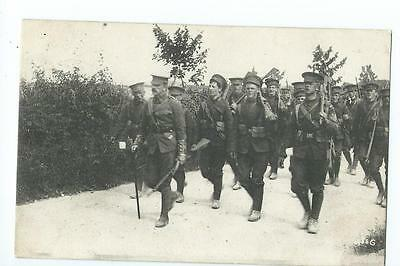 Herefordshire Regiment training route march nr Andover their annual camp PU 1906