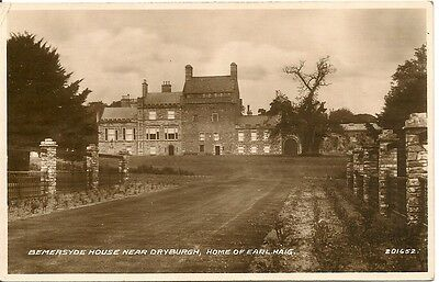 Old Postcard-BEMERSYDE HOUSE-Nr DRYBURGH-1945-Scotland-by Valentine's.