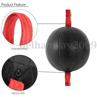 Double End MMA Black Speedball Boxing Training Punch Bag With speed ball Strap