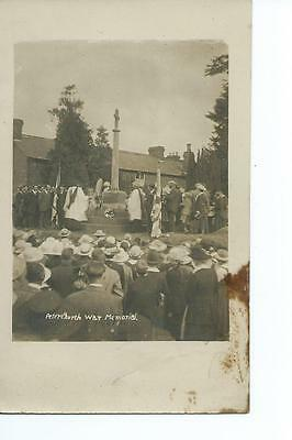 Herefordshire RP  of a crowded service at Peterchurch War Memorial