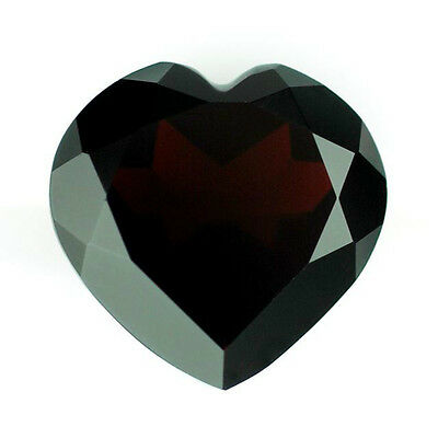 7mm HEART-FACET PURPLE/RED NATURAL INDIAN ALMANDITE GARNET GEMSTONE £1 NR!