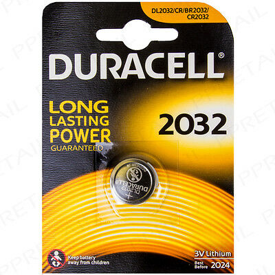 DURACELL Long Life Watch Battery 2032 Lithium 3V Volt Button Coin Batteries Toy