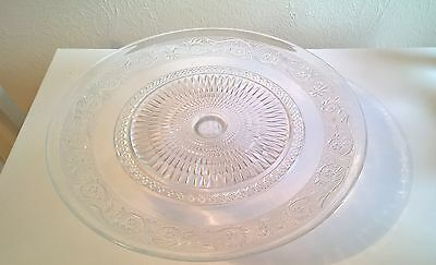 Glass cake stand display kitchen dining room shop vintage french home