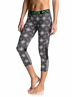 Roxy Womens Running Leggings.new Stay On Jog Fitness Gym Capri Pants 7S/3002/kvj
