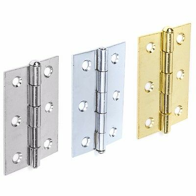 "LOOSE PIN DOOR HINGES BRASS/SILVER/CHROME 3""/75mm Internal Frame Butt Hang Set"