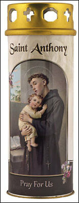 SAINT ANTHONY DEVOTIONAL HOLY CANDLE - 100's OF STATUES AND PICTURES ARE LISTED