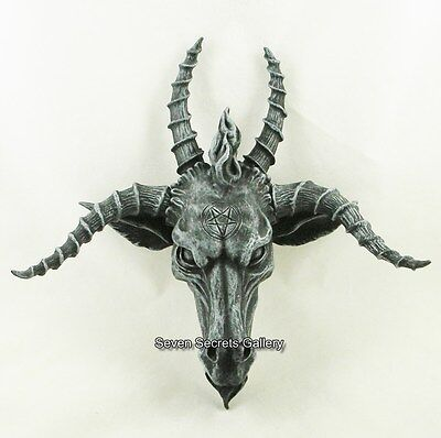 Baphomet Head Satanic Demon Goat of Mendes Pagan Occult Wall Plaque Ornament NEW