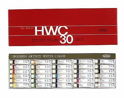 Holbein Artists' Water Color Transparent Watercolors 30 colors set W407 Japan