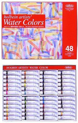 Holbein Artists' Water Color Transparent Watercolors 48 colors set W409 HWC