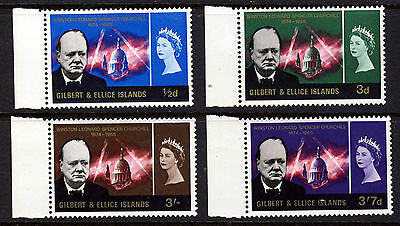 GILBERT & ELLICE ISLANDS 1966 Churchill Commemoration Set SG 106 to SG 109 MNH
