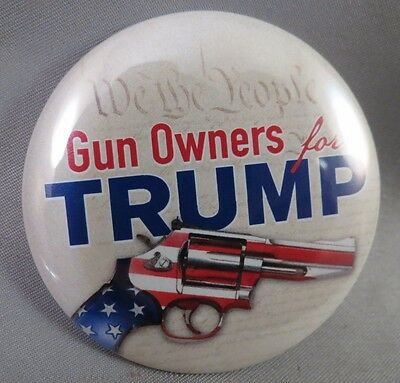 LOT OF 12 GUN OWNERS FOR TRUMP BUTTONS 2nd Amendment We The People 2016 pin T