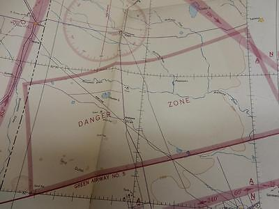 1942 WWII Restricted Vintage Aeronautical Chart Map-Roswell NM-Area 51-UFO-Alien