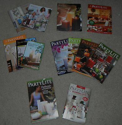 PARTYLITE consultant catalogs reference 2006-2013 retired Lot of 14