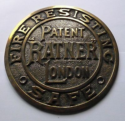Patent Ratner London / Fire Resisiting Safe / Quality Heavy Large Safe Plate
