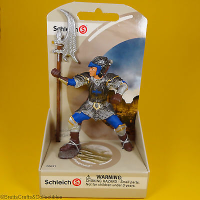 Schleich - World of History Knights Blue Dragon Knight with Pole Axe 72031
