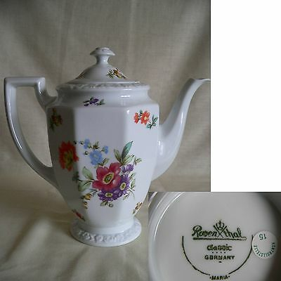 Beautiful Rosenthal Classic Maria Large Size Coffee Pot-Floral Decoration