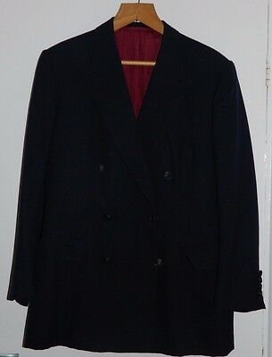 "Men's Denman & Goddard Savile Row London Navy Blazer Jacket 42"" Chest"