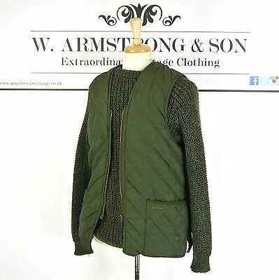 Men's Green BARBOUR QUILTED WAISTCOAT Shooting SPORTS Outdoors Warm Gilet UK 42