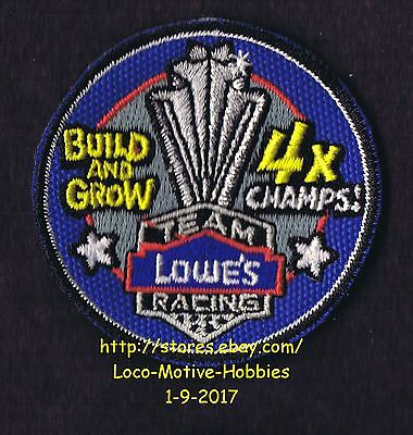 LMH PATCH Badge 4X CHAMPS Team Racing Race Car Racecar LOWES Build Grow Champion