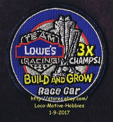LMH PATCH Badge 3X CHAMPS Team Racing Race Car Racecar LOWES Build Grow Champion