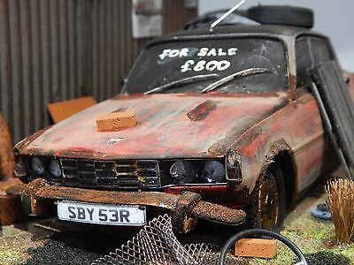 "1/18 Rover P6 3500 V8 Barn Find Diorama Code 3 Junk Yard  ""andrew Green"""