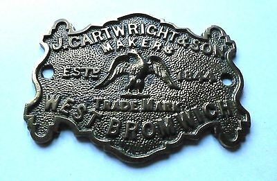 J. Cartwright & Son / West Bromwich / Safe Plate