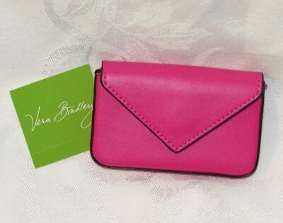 Vera Bradley Fuchsia Envelope Card Case Business Holder Card Wallet PINK NEW