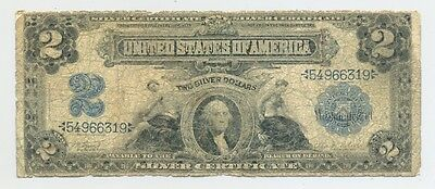 $2 Series 1899 Silver Certificate, nice average circulated example, no reserve