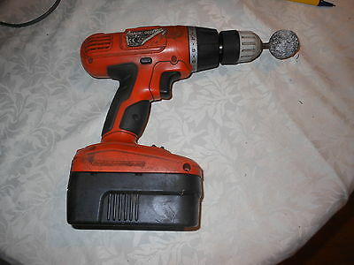 Black & Decker 18V Cordless Drill With Battery