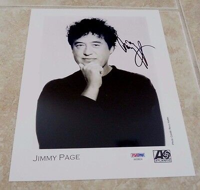Jimmy Page Led Zeppelin Signed Autographed 8x10 Promo Photo PSA Certified