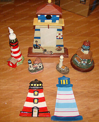 Lighthouse Lot (7 Pieces) Soap Dispenser, Wooden Frame, Spoon Rest......