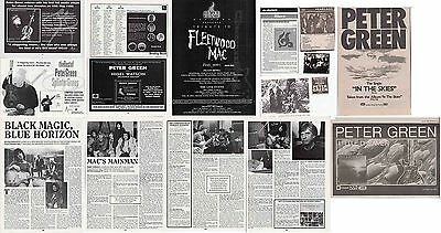 PETER GREEN- FLEETWOOD MAC : CUTTINGS COLLECTION -adverts etc-