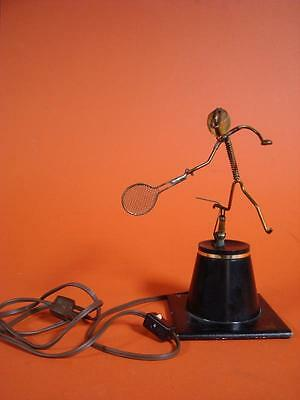 Vintage Gordon Bradt Kinetic Sculpture Electric Moving Tennis Player