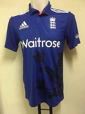 England Cricket S/s Odi Shirt By Adidas 52/54 Inch Chest Brand New With Tags