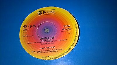 Lenny Williams - Choosing You - Abc Records Uk 4198 - B/w Trust In Me