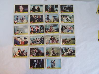 "Part Set 22 ""the Legend Of Custer"" + 9 Chief Stickers 1968 A&bc Collectors Cards"