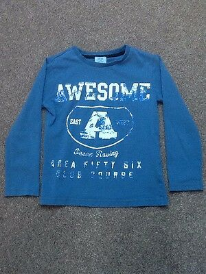 Tesco F&F boys blue top age 4-5 years. Good condition.
