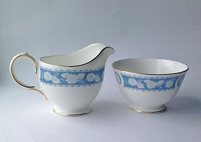 Vintage Royal Vale Bone China Creamer and Sugar Bowl Flora  pattern 8681 English