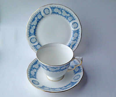 Vintage Royal Vale Bone China Teacup Trio Flora  pattern 8681 English tea set