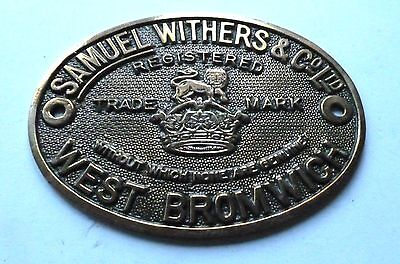 Samuel Withers & Co. Ltd - West Bromwich / Safe Plate