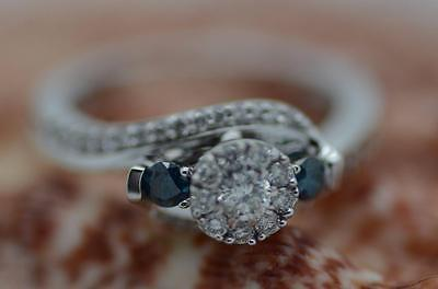 1 ct Diamond Cluster 10kt White Gold Ring *55477A061