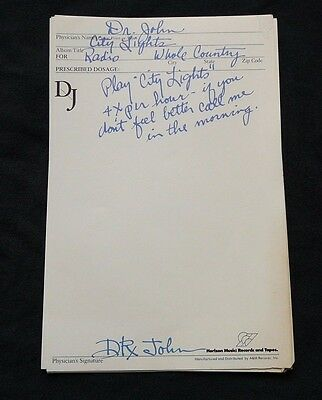 Dr. John Cool 70's Set Of Promo Note Sheets ( 10 )