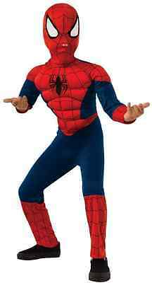 ULTIMATE SPIDERMAN MUSCLE CHILD COSTUME Halloween Cosplay Fancy Dress B3