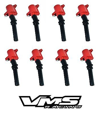 x4 VMS RACING RED HIGH OUTPUT IGNITION COILS FOR HONDA COIL ON PLUG B-SERIES