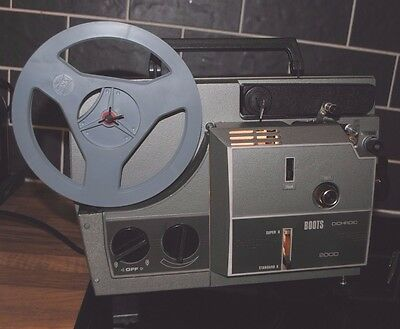 Boxed Boots Movie Projector for 8mm Super 8 film In Original Case Near to Mint