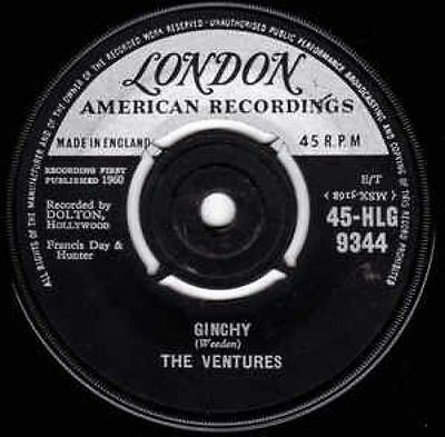 """Ginchy / Lullaby Of The Leaves 7"""" : The Ventures"""
