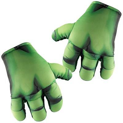MARVEL HULK HANDS CHILD SOFT GLOVES Super Hero Halloween Cosplay DressUp