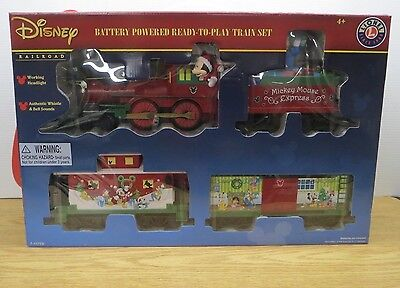 NOB Lionel Disney Christmas Tree Holiday Train Set Collectible Mickey A85