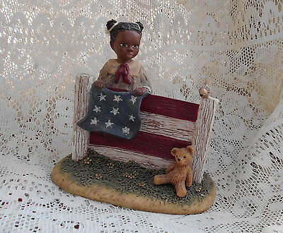 "Miss Martha Collection Carrie ""God Bless America"" Figurine"